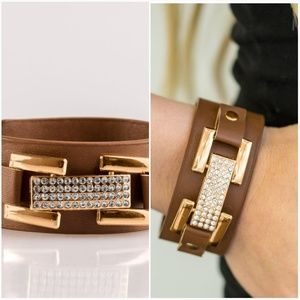 GOING PLATINUM BROWN URBAN LEATHER BRACELET